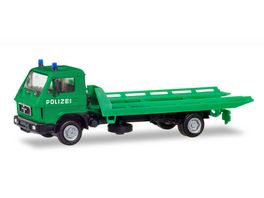 Herpa 094146 MAN G 90 Plateau Abschleppfahrzeug Polizei