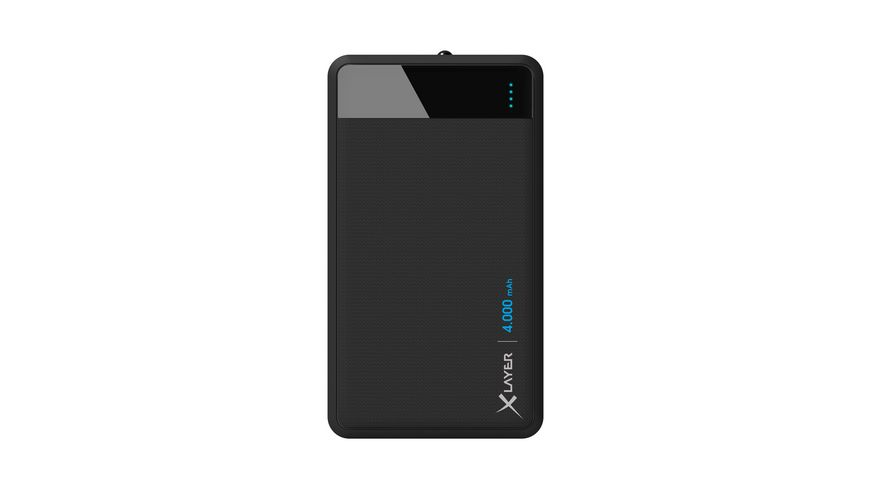 Zusatzakku Powerbank Colour Line Black 4000mAh Smartphones Tablets