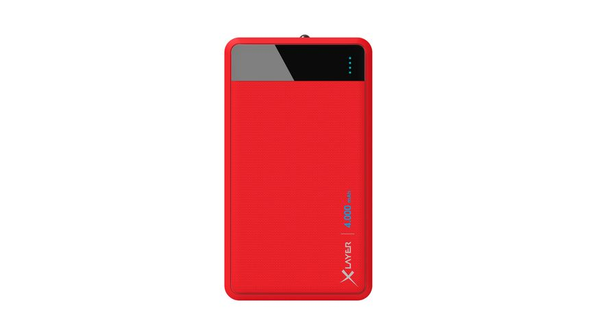Xlayer Zusatzakku Powerbank Colour Line Red 4 000mAh