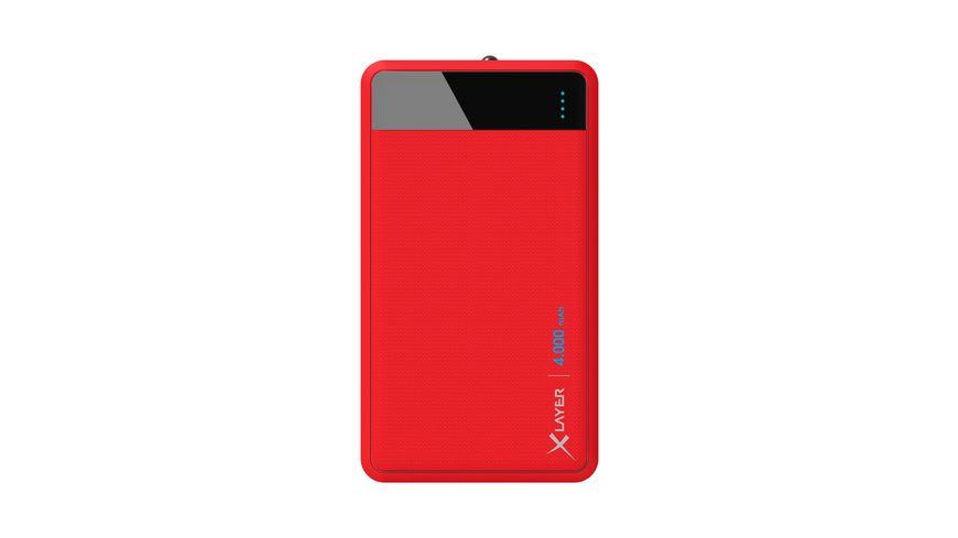 Zusatzakku XLayer Powerbank Colour Line Red 4000mAh Smartphones Tablets