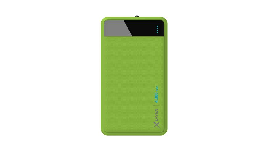 Zusatzakku Powerbank Colour Line Green 4000mAh Smartphones Tablets