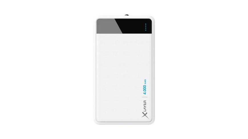 Zusatzakku XLayer Powerbank Colour Line White 4000mAh Smartphones Tablets