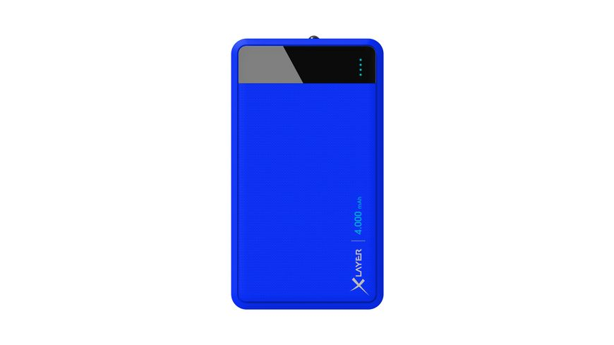 Zusatzakku Powerbank Colour Line Blue 4000mAh Smartphones Tablets