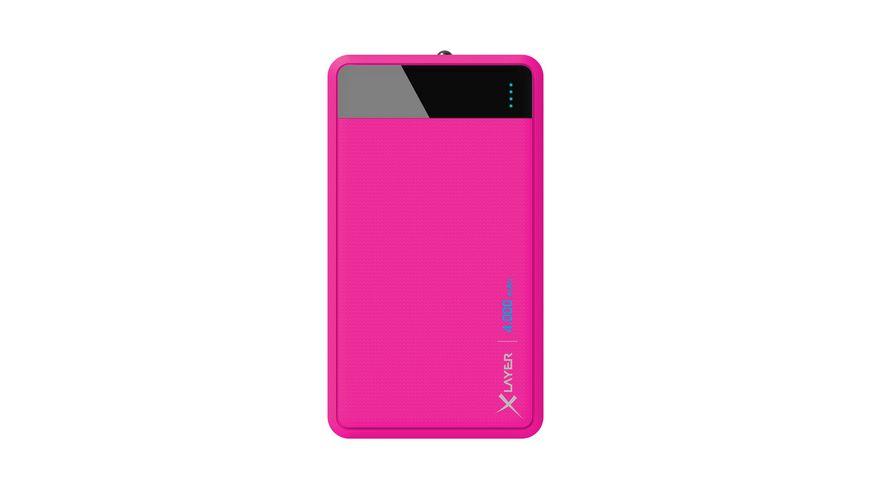 Xlayer Zusatzakku Powerbank Colour Line Pink 4 000mAh