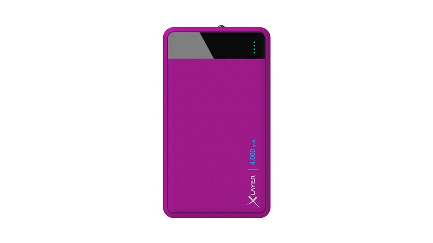 Zusatzakku Powerbank Colour Line Purple 4000mAh Smartphones Tablets