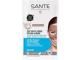SANTE 2in1 Kaffee Kokos Peeling Maske