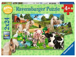 Ravensburger Puzzle Animal Club Tierfreunde Animal Club 2x24 Teile