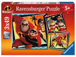 Ravensburger Puzzle Die Unglaublichen Die Unglaublichen 3x49 Teile