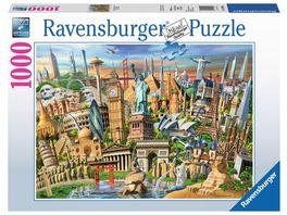 Ravensburger Puzzle Sehenswuerdigkeiten weltweit 1000 Teile