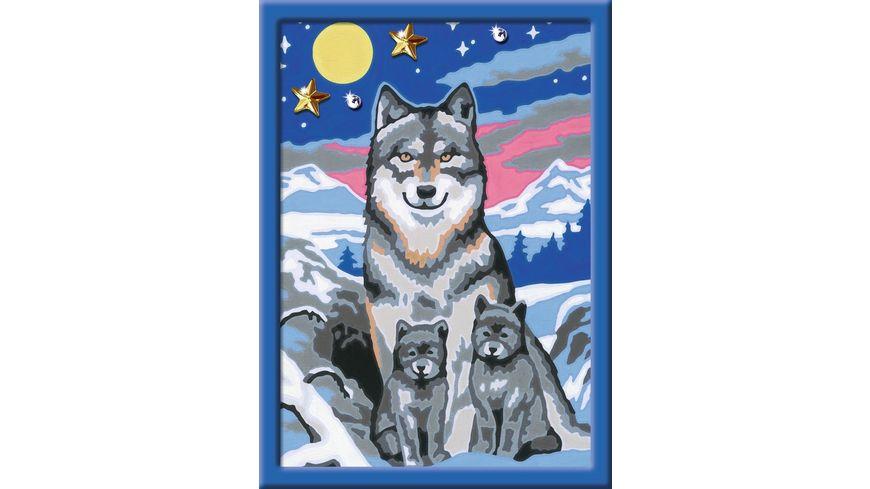 Ravensburger Beschaeftigung Malen nach Zahlen Suesse Wolfsfamilie