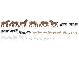 Faller 150938 H0 36 Tiere auf dem Bauernhof