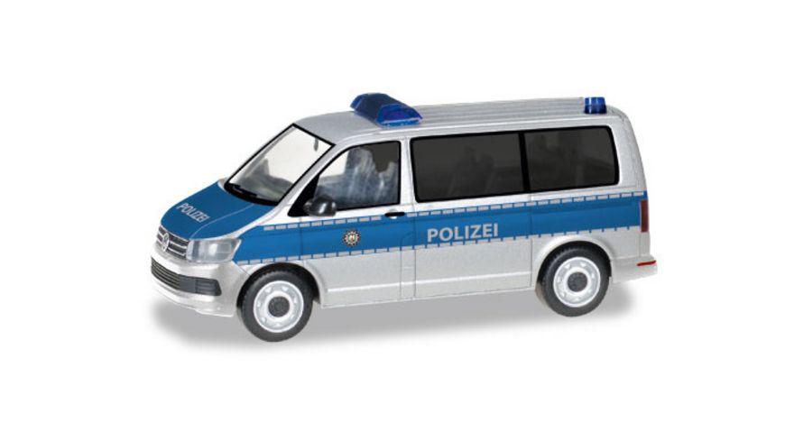 Herpa 093842 VW T6 Bus Polizei Nordrhein Westfalen