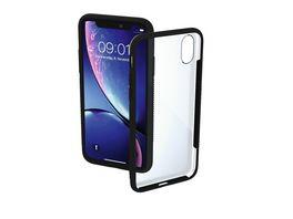 Cover Frame fuer Apple iPhone XR Transparent Schwarz