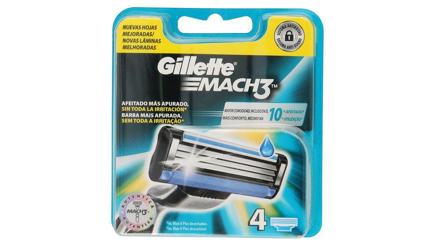 Gillette Mach3 Systemklingen 4er
