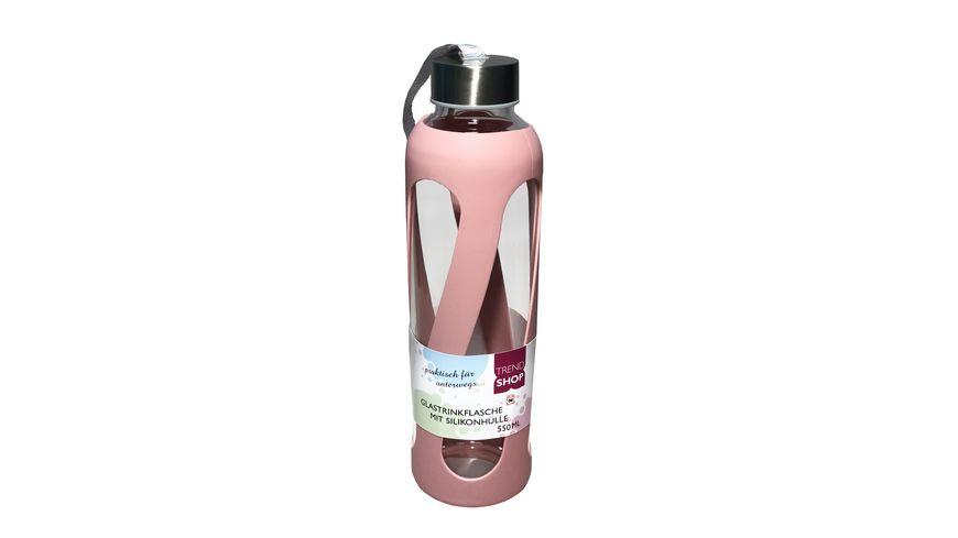 Trinkflasche aus Glas rose