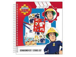 Undercover Feuerwehrmann Sam Schablonenset