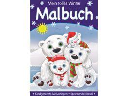 Winter Malbuch DIN A4