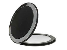Taschenspiegel 7x Vergroesserung schwarz chrom