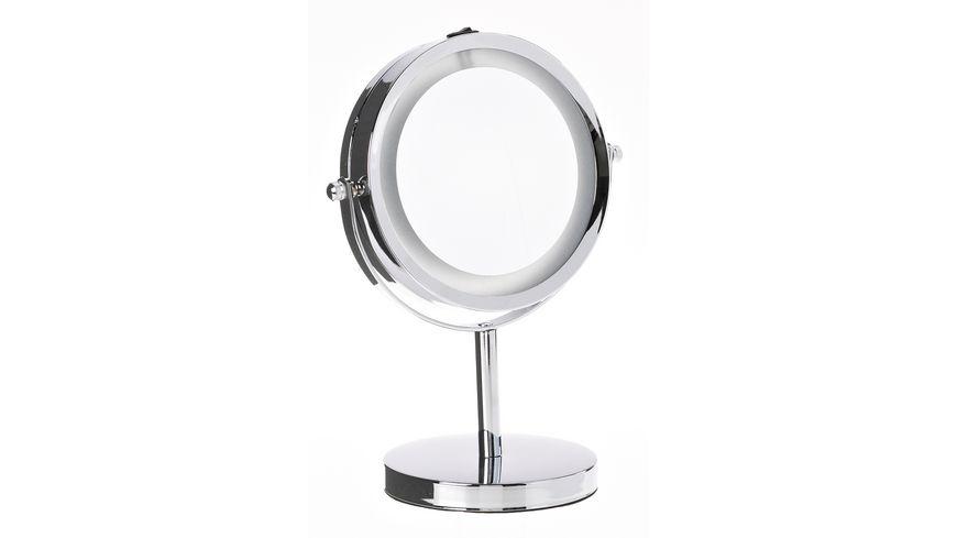 Standspiegel 5x Vergroesserung mit LED