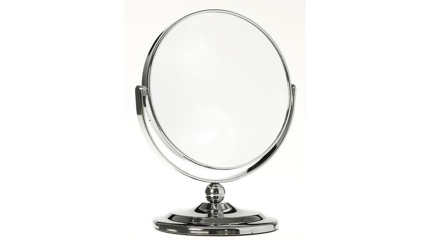 Standspiegel 2x Vergroesserung silber klein