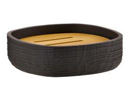 Seifenablage Struktur dunkelbraun Holz