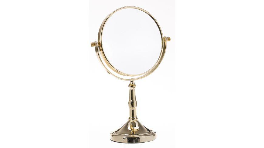 Stellspiegel 7x Vergroesserung gold