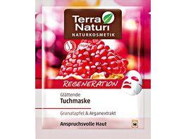 TERRA NATURI Regeneration Tuchmaske Granatapfel Arganextrakt