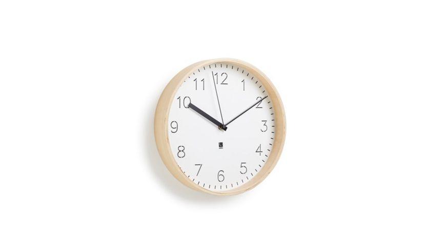 umbra Rimwood Uhr weiss