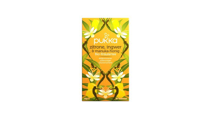 pukka Bio-Kräutertee Zitrone, Ingwer & Manuka-Honig