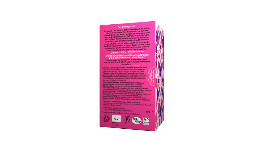 pukka Bio Fruechtetee Holunderbeere Echinacea