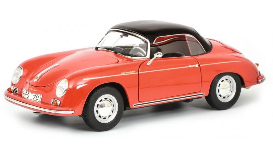 Schuco Edition 1 18 Porsche 356 A Carrera Speedster Edition 70 Jahre Porsche rot schwarz 1 18