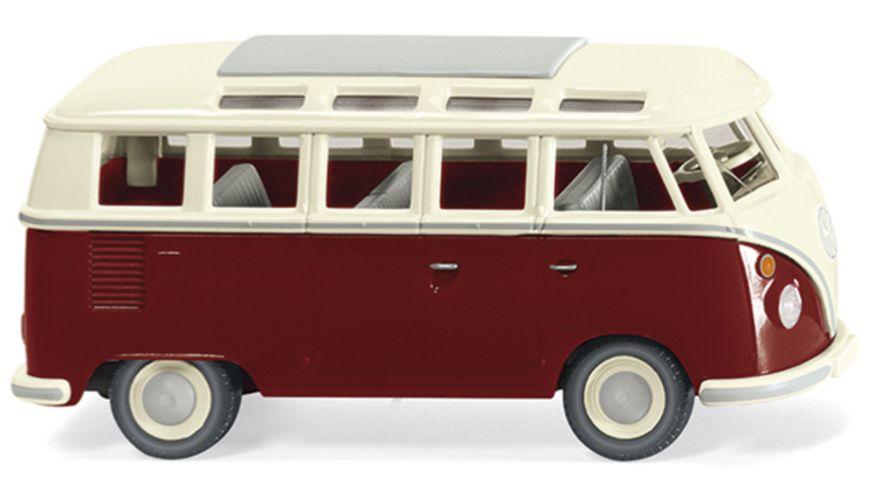WIKING 079722 VW T1 Sambabus purpurrot cremeweiss