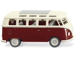Wiking 079722 VW T1 Sambabus purpurrot cremeweiss