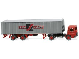 Wiking 052304 Containersattelzug MAN Sealand
