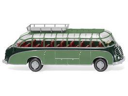 Wiking 073002 Reisebus Setra S8 dunkelgruen resedagruen