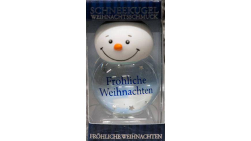 H H Schneekugel Froehliche Weihnachten