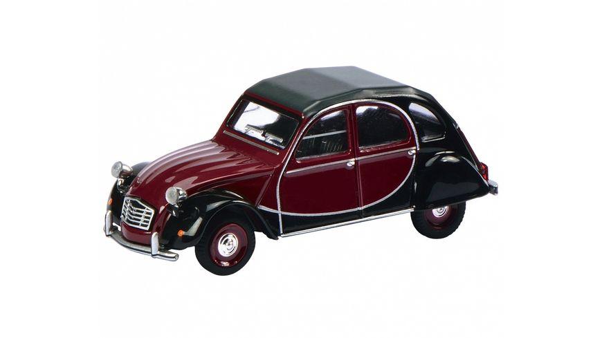 Schuco Edition 1 64 Citroen 2 CV Charleston rot schwarz 1 64