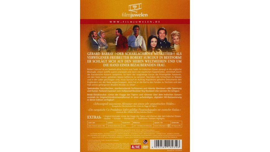 Unter der Flagge des Tigers Donner ueber dem Indischen Ozean Filmjuwelen 2 DVDs