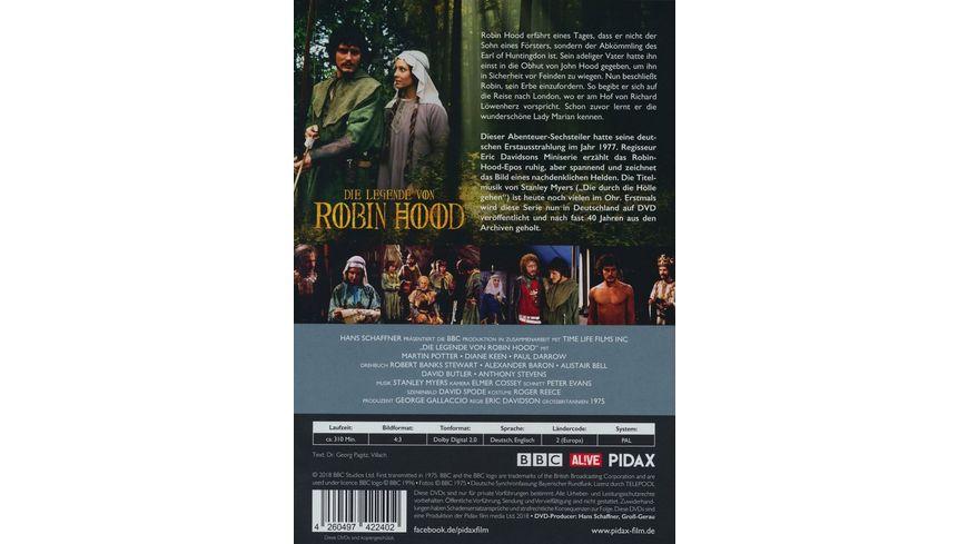 Die Legende von Robin Hood The Legend of Robin Hood Die komplette 6 teilige Abenteuerserie Pidax Serien Klassiker 2 DVDs