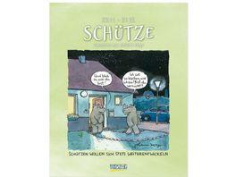 Schuetze 2019 Sternzeichenkalender Cartoonkalender als Wandkalender