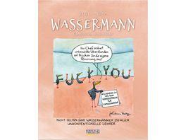 Wassermann 2019 Sternzeichenkalender Cartoonkalender als Wandkalender
