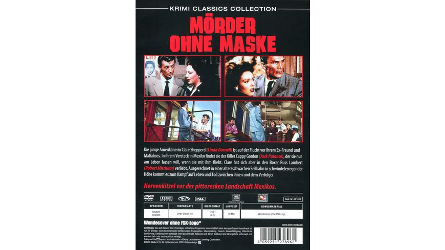 Moerder ohne Maske Krimi Classics Collection