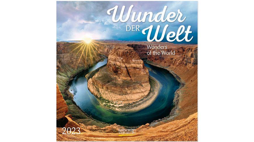 Wunder der Welt 2022 - Broschürenkalender mit Ferienterminen