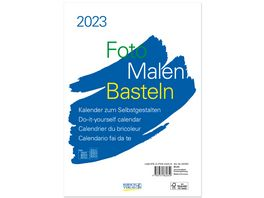 Foto Malen Basteln Foto Bastelkalender A4 weiss 2022