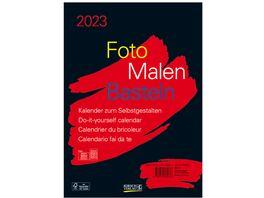 Foto Malen Basteln Bastelkalender A4 schwarz 2019
