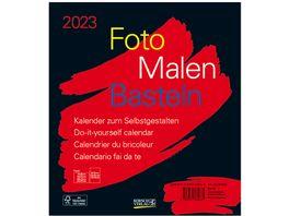 Foto Malen Basteln Bastelkalender schwarz 2019