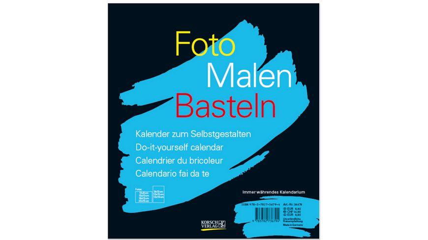 Foto Malen Basteln schwarz
