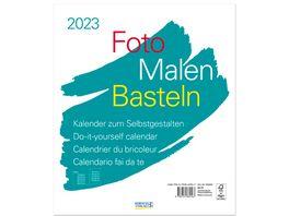 Foto Malen Basteln Bastelkalender weiss gross 2019