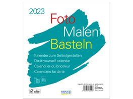 Foto Malen Basteln Bastelkalender weiss 2022