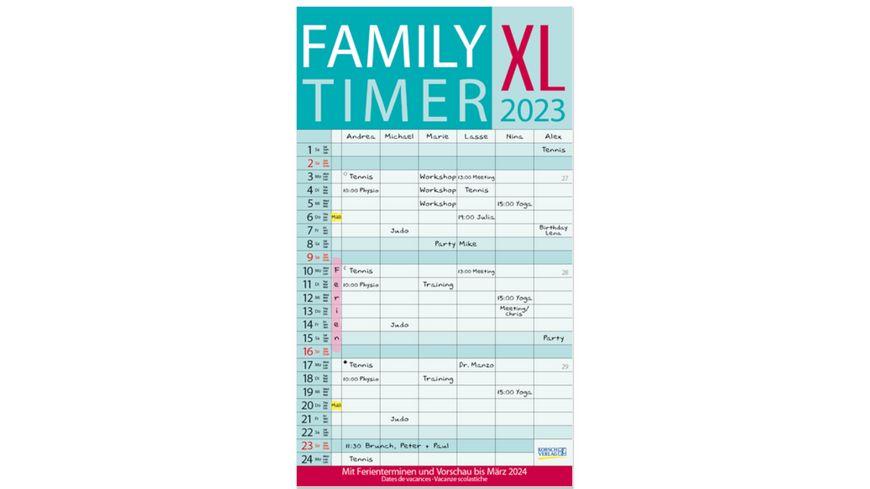XL Family Timer 2019